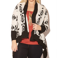 Jacquard Stripe Cocoon Wrap | Shop Jr. Plus at Wet Seal