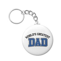 Worlds Greatest Dad Keychain Blue