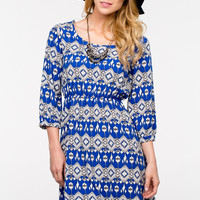 Hi-Lo Tribal Dress - Women's Clothing and Fashion Accessories | Bohme Boutique