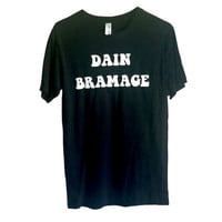DAIN BRAMAGE totally mental unisex tshirt 70s style by FLUNKLIFE