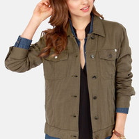 RVCA Beedle Lightweight Olive Green Jacket