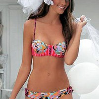 Maaji Swimwear 2011 - Peachy Lucky Hit Bustier Bikini at Tropi-Ties