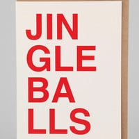 Sad Shop Jingleballs Holiday Card - Urban Outfitters