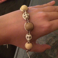 Hemp Skull Bracelet (adjustable)