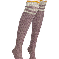 Grunge thigh-high sock