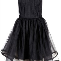 alice + olivia Landi Gathered Cinched Waist Pouf Dress