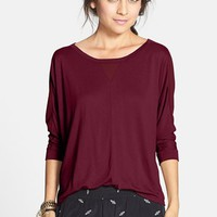 Elodie Mixed Media Tee (Juniors) (Online Only) | Nordstrom