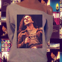 Eddie Vedder Pearl Jam Off The Shoulder Sweatshirt (Select from four different images)