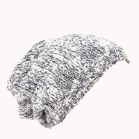 Heathered Open-Knit Beanie