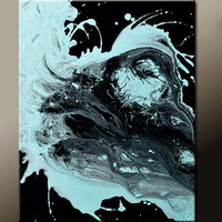 Abstract Canvas Art Painting 18x24 Original Contemporary Paintings by Destiny Womack - dWo - Surge of Emotions
