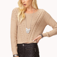 Favorite Cable Cropped Sweater