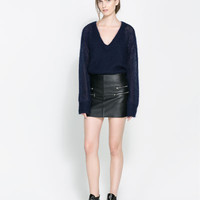 OVERSIZED RIBBED SWEATER - Sweaters - Knitwear - WOMAN | ZARA United States