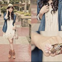 S.O.A. Rose Ring, Forever21 Bird Ring, Spinns Convertible Dress From Japan, Yhansy Straw Hat From Gift From Bea Araneta //    And your bird can sing by Valerie Chua // LOOKBOOK.nu