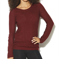 Shaker Stitch Raglan Sweater