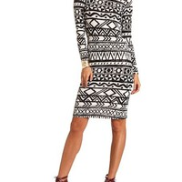 Printed Hacci Midi Dress: Charlotte Russe