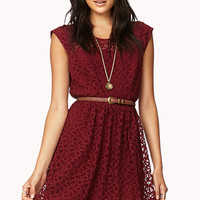 Ditsy Lace Fit & Flare Dress