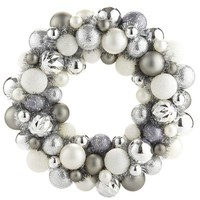 Ornament Wreath - Silver