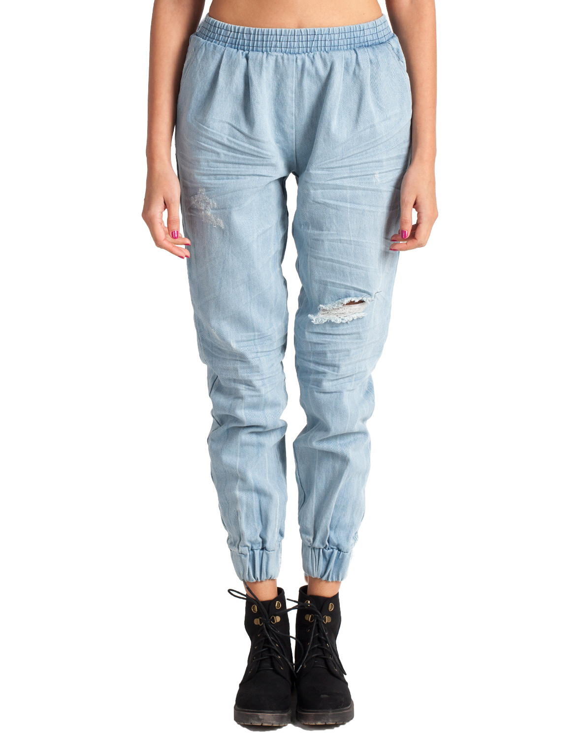 Simple Lyst - Forever 21 Contemporary Classic Denim Joggers In Blue