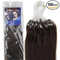 18'' Remy Loops Micro Rings Beads Tipped Human Hair Extensions 17colors for Your Best Selection