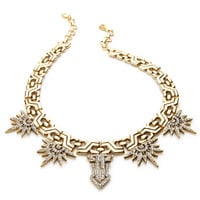 YOCHI DESIGNS Gold-Plated Sunrise Necklace