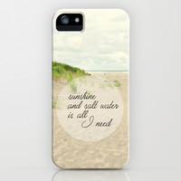 sunshine and salt water iPhone & iPod Case by Sylvia Cook Photography