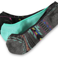 Empyre Girl 3 Pack Multi Tribal No Show Socks at Zumiez : PDP