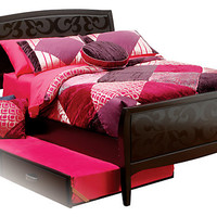 Belle Noir Dark Merlot 3 Pc Full Bed