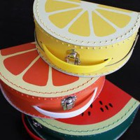mixed fruit vintage style suitcases by nanacompany on Etsy