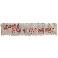 Beware Fabric Banner- Party City