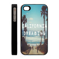 Apple iPhone 4 4S or 5 Case Skin Cover Hipster Retro California Dreaming