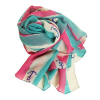 Zlyc New Refreshing Color Matching Casual Chiffon Anchor Scarf for Women