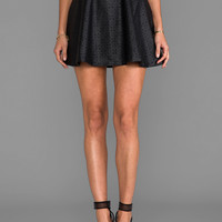 Jack by BB Dakota Jovianne Faux Leather Mini Skirt in Black