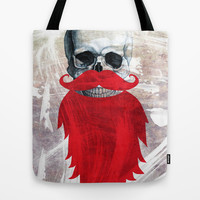 Beard Skull Tote Bag by Li9z