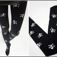 Skull Printed Tights