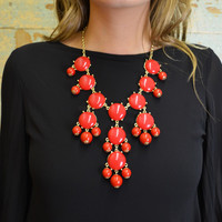 Barcelona Bubble Necklace Set Red
