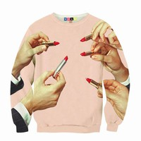 MSGM AND TOILET PAPER LIPSTICK SWEATSHIRT - MEN - MSGM AND TOILET PAPER - OPENING CEREMONY