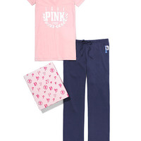V-neck Tee & Boyfriend Pant Gift Set - PINK - Victoria's Secret