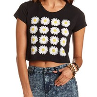DAISY GRID GRAPHIC CROP TOP