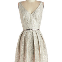 Silver Belle of the Ball Dress | Mod Retro Vintage Dresses | ModCloth.com