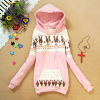 Bunny Sweater Shirt with Hoodies