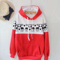 Deer Sweater Shirt with Hoodies