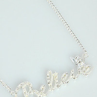 Karmaloop.com - Global Concrete Culture - The Crystal Believe Nameplate Necklace by Disney Couture Jewelry