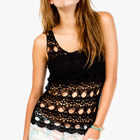 Crochet Skulls and Crosses Tank