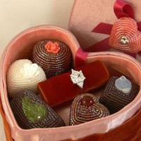Heart Shaped Box of Faux Chocolates Valentine's by meredithdada