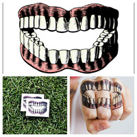 Teeth - temporary tattoo (Set of 2)