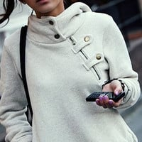 CUTE GREY FASHION SWEATER