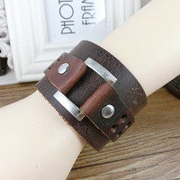 Punk Rock Leather Bracelet Couple Bracelet Women Bracelet Men Leather Bracelet Bracelet Cool Bracelet Mens Bracelet 2580S