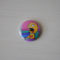 Tired Lisa Button