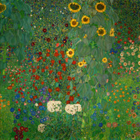 Farm Garden with Sunflowers, c.1912 Print by Gustav Klimt at Art.com