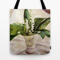Lily of the Valley Tote Bag by Vargamari